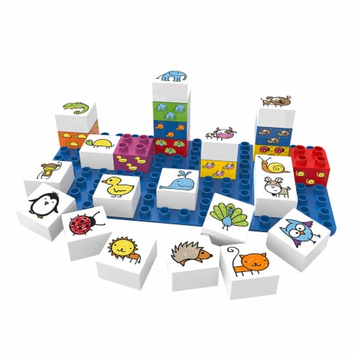 27 pcs BiOBUDDi Learning Animals Building Blocks Set Perspective: front