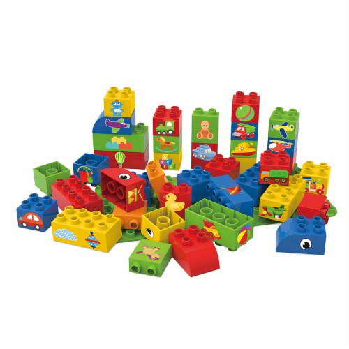 BiOBUDDi Educational Blocks w/ Baseplate - Boys Perspective: front