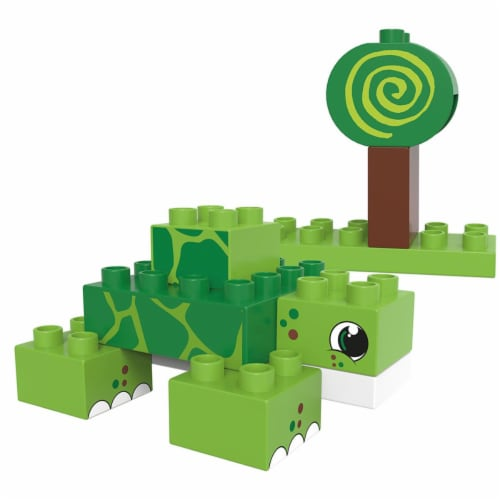 12 pcs BiOBUDDi Turtle & Snail Toy Blocks Perspective: front