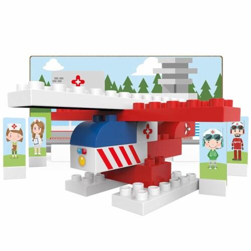 27 pcs BiOBUDDi Rescue Building Blocks Set Perspective: front