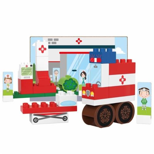 39 pcs BiOBUDDi Hospital Building Blocks Set Perspective: front