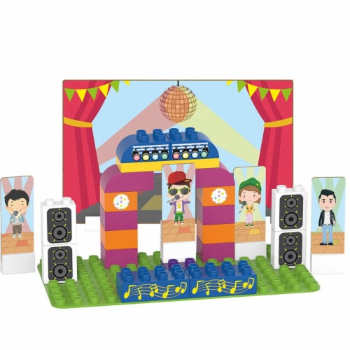 36 pcs BiOBUDDi Karaoke Building Blocks Set Perspective: front