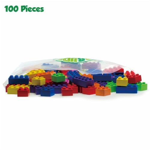 100 Pcs BiOBUDDi Assorted Blocks Set Perspective: front