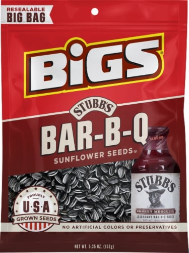 Bigs Stubb's Tangy Bar-B-Q Sunflower Seeds Perspective: front