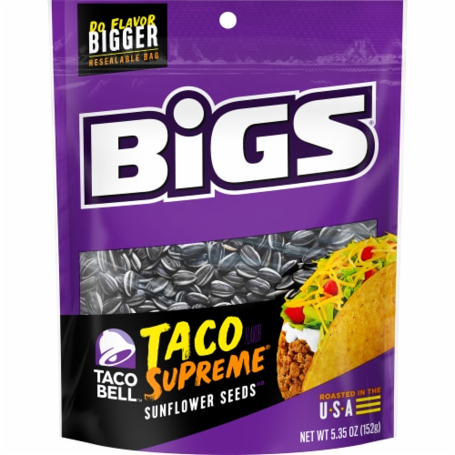 Bigs Taco Bell Taco Supreme Sunflower Seeds Perspective: front