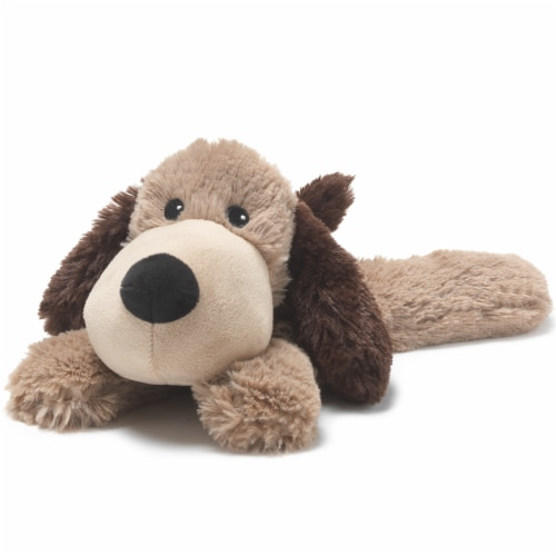 Warmies Dog Stuffed Animal - Brown Perspective: front