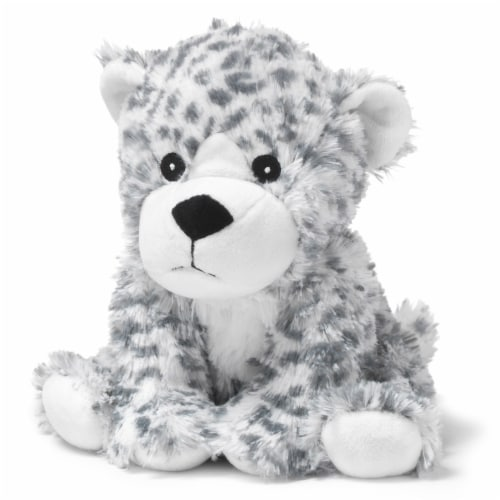 Warmies Snow Leopard Stuffed Animal Perspective: front