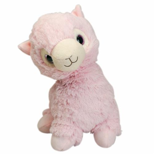 Warmies Llama Stuffed Animal - Pink Perspective: front