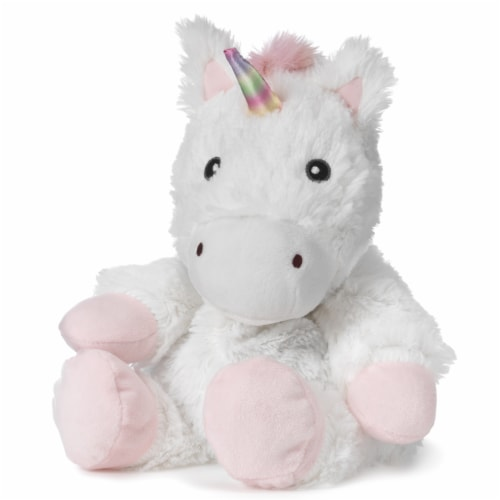 Warmies Unicorn Stuffed Animal - White Perspective: front