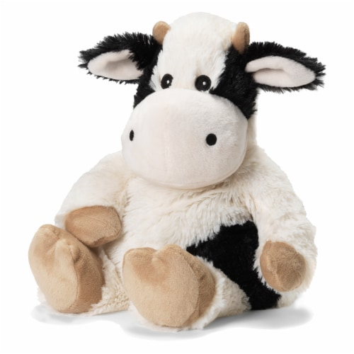 Warmies Cow Scented Plush - Black/White Perspective: front
