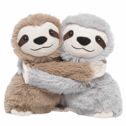 Warmies Hugging Sloths Plush Perspective: front