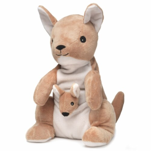 Intelex Warmies Microwavable Plush 13   Kangaroo and Joey Perspective: front