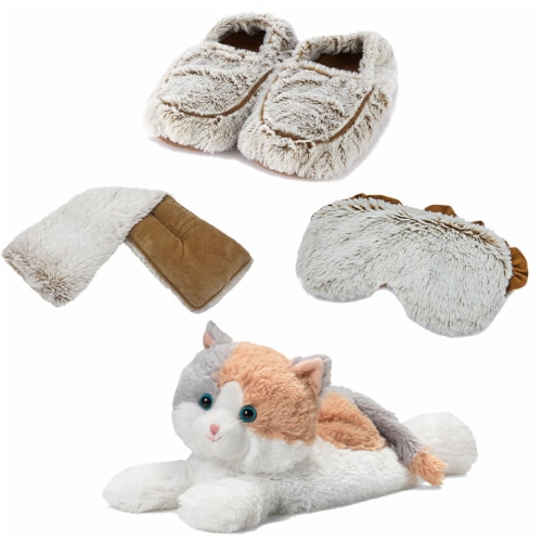 Warmies Calico Cat Scented Plush Sleep Set Perspective: front