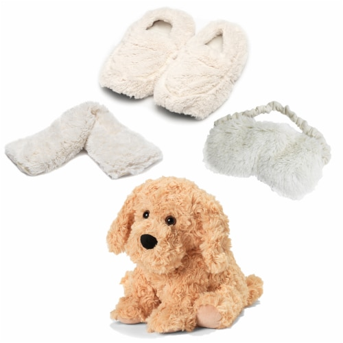 Warmies Dog Scented Plush Sleep Set - Golden Perspective: front