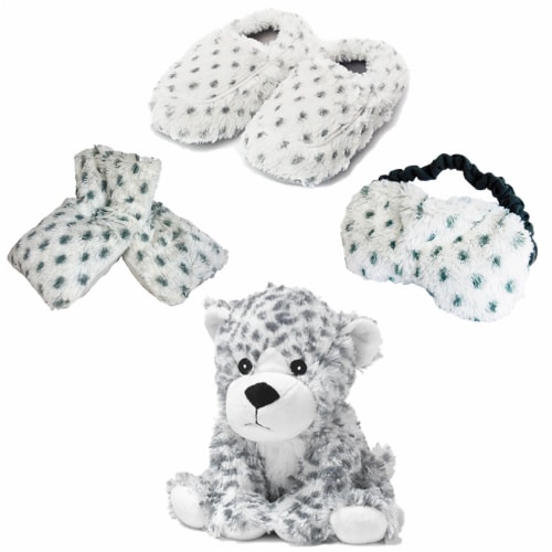 Warmies Snow Leopard Scented Plush Sleep Set Perspective: front