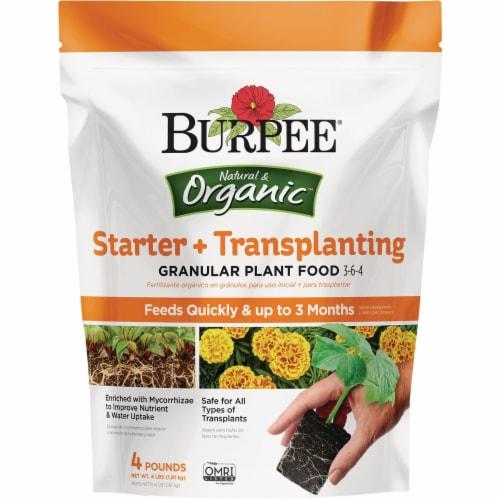 Burpee 4 Lb. 3-6-4 Organic Starter & Transplanting Dry Plant Food BP4ST Perspective: front