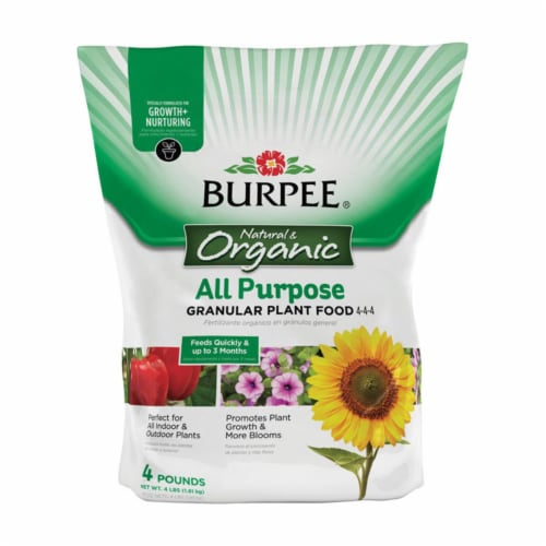 Burpee Granules Organic Plant Food 4 lb. - Case Of: 1; Perspective: front