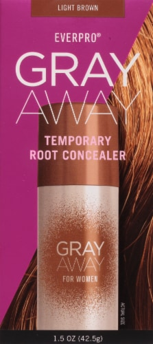 EVERPRO® Gray Away Light Brown Temporary Root Concealer Spray Perspective: front