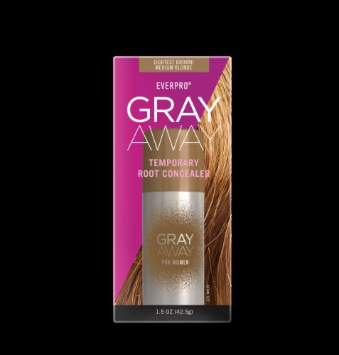 EVERPRObeauty Gray Away Lightest Brown/Medium Blonde Temporary Root Concealer Spray Perspective: front