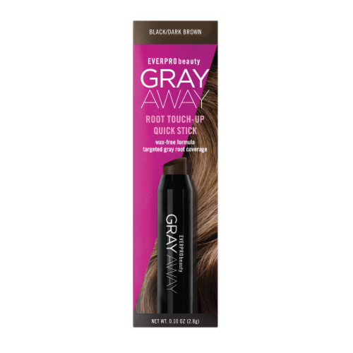 EVERPRObeauty Gray Away Black/Dark Brown Root Touch-Up Quick Stick Perspective: front