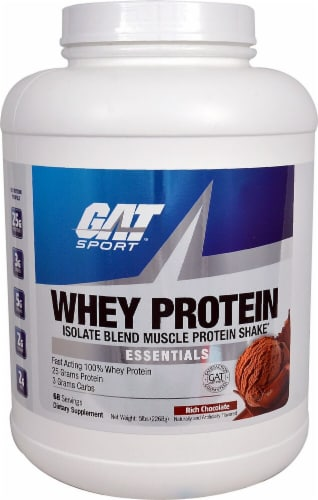 GAT  Whey Protein Isolate Blend   Rich Chocolate Perspective: front