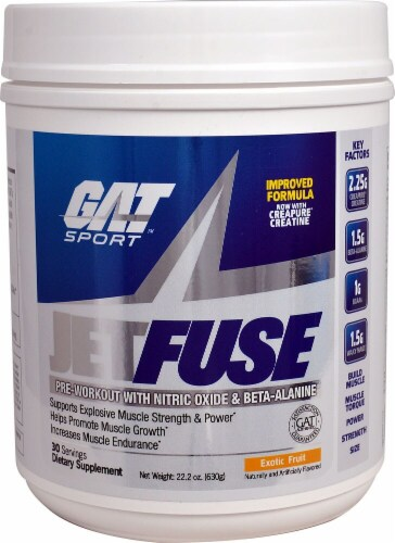 GAT  JetFuse Pre-Workout   Exotic Fruit Perspective: front