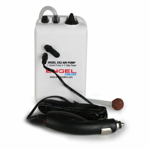 Engel Coolers ENG-AP Portable Live Bait 2 Speed Aerator Pump with 12V Adapter Perspective: front