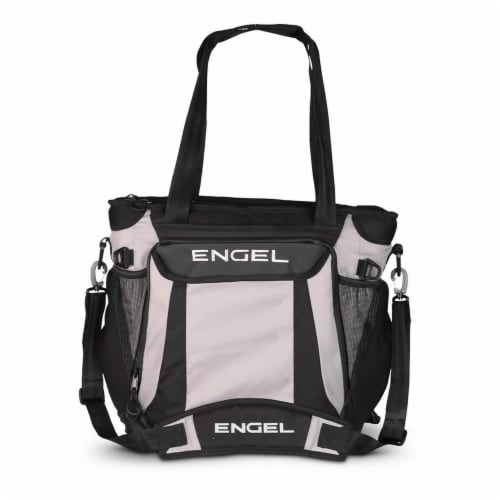 Engel ENGCB2-GRAY 23 Quart Insulated Water Resistant Backpack Cooler Bag, Grey Perspective: front