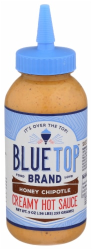 Blue Top Brand Honey Chipotle Creamy Hot Sauce Perspective: front