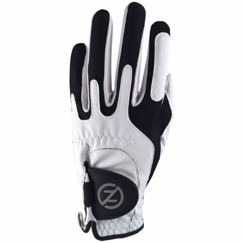 Zero Friction Men's Performance Universal Fit Left Hand Golf Glove - White Perspective: front