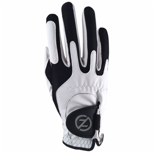 Zero Friction Men's Performance Universal Fit Right Hand Golf Glove - White Perspective: front