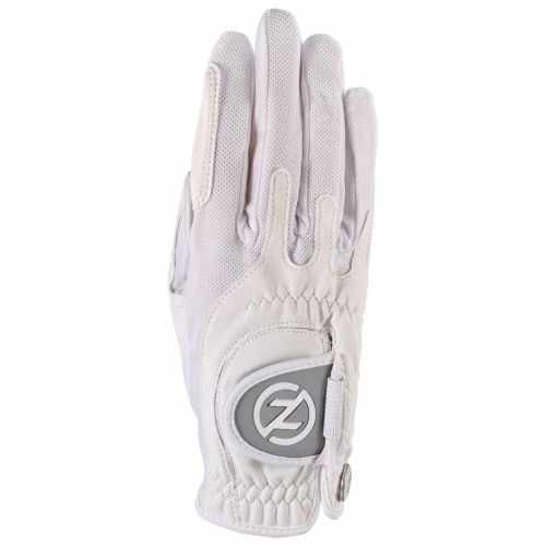 Zero Friction Ladies' Performance Universal Fit Right Hand Golf Glove - White Perspective: front