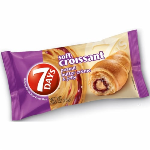 7 Days Peanut Butter and Jelly Croissant, 2.65 Ounce -- 24 per case. Perspective: front