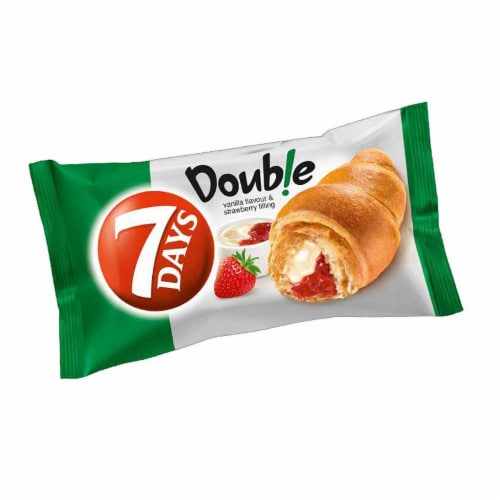 7 Days Strawberry and Vanilla Soft Croissant, 2.65 Ounce -- 24 per case. Perspective: front