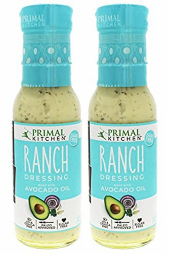 Primal Kitchen Organic Ranch Dressing, Avocado Oil-Based, Vegan & Paleo Approved 8 Oz-2 Pack Perspective: front