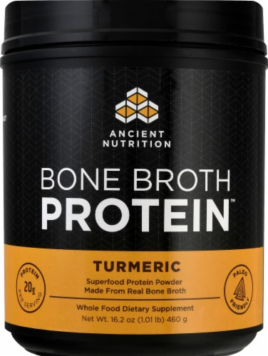 Ancient Nutrition Bone Broth Protein Turmeric Perspective: front