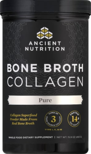 Ancient Nutrition Pure Bone Broth Collagen Powder Perspective: front