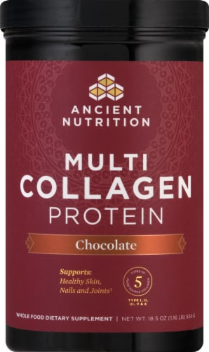 Ancient Nutrition Chocolate Multi Collagen Protein Powder Perspective: front