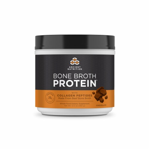 Ancient Nutrition Chocolate Bone Broth Protein Perspective: front