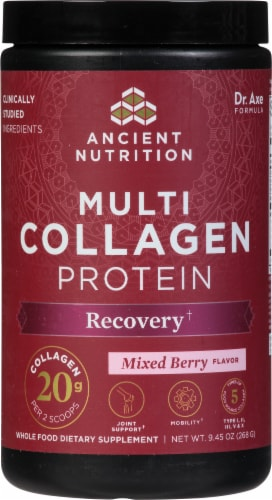 Ancient Nutrition Rest + Recovery Multi Collagen Protein Perspective: front