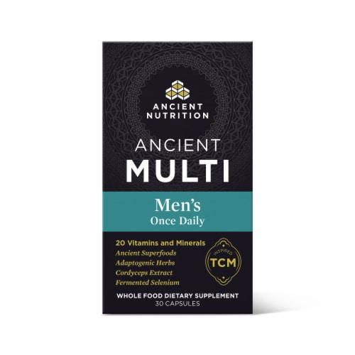 Ancient Nutrition Men's Once Daily Vitamin Capsules Perspective: front