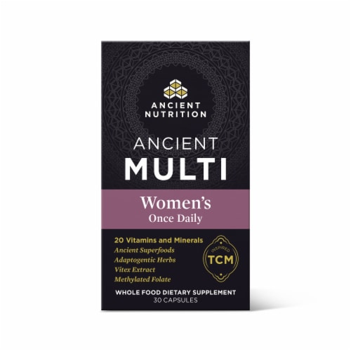 Ancient Nutrition Women's Once Daily Vitamin Capsules 30 Count Perspective: front