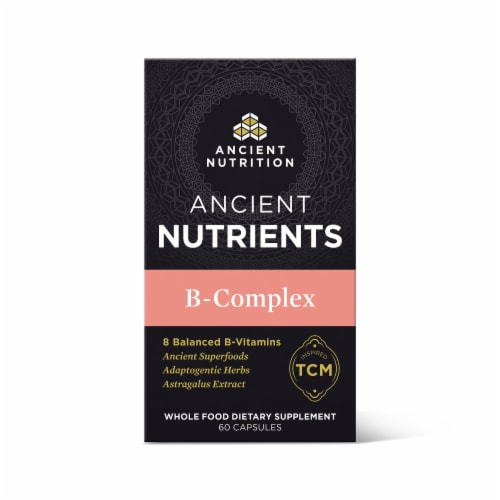 Ancient Nutrition B-Complex Vitamin Capsules Perspective: front