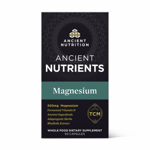 Ancient Nutrition Ancient Nutrients Magnesium Capsules Perspective: front