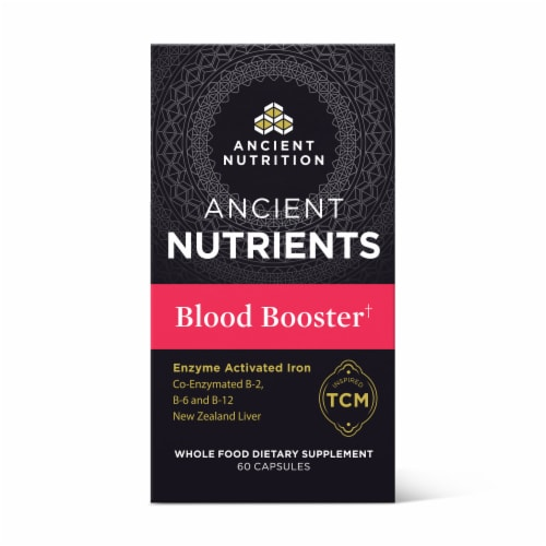 Ancient Nutrition Blood Booster Capsules Perspective: front