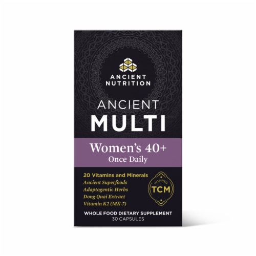Ancient Nutrition Women's 40+ Once Daily Vitamin Capsules Perspective: front
