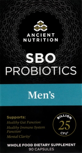 Ancient Nutrition Men's SBO Probiotics Capsules Perspective: front