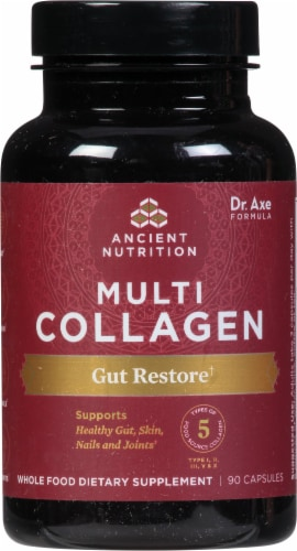 Ancient Nutrition Multi Collagen Protein Gut Restore Capsules Perspective: front