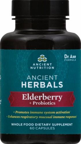 Ancient Nutrition Ancient Herbals Elderberry +Probiotics Capsules 60 Count Perspective: front
