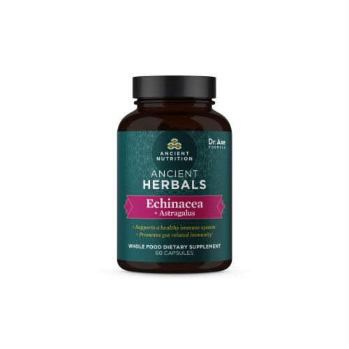 Ancient Nutrition Ancient Herbals Echinacea + Astragalus Capsules Perspective: front